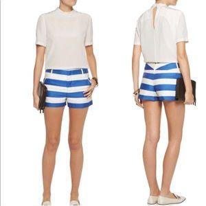 Alice + Olivia Cady Blue Stripe Shorts—12